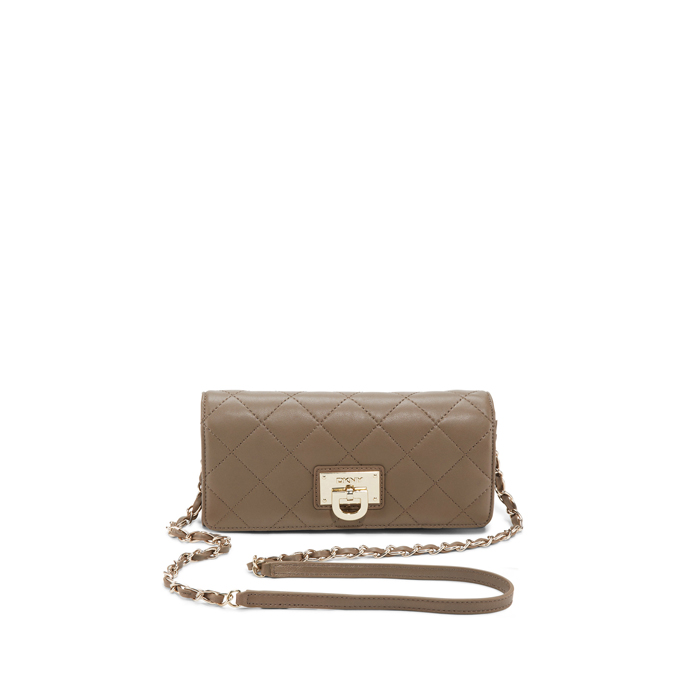 DESERT DKNY QUILTED LEATHER WALLET CLUTCH Outlet Online
