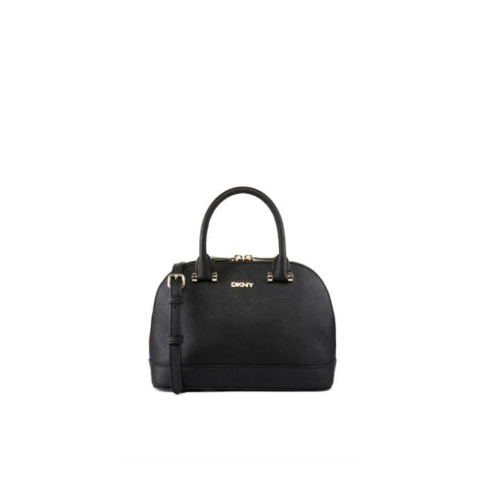 BLACK DKNY SAFFIANO LEATHER MINI TOP HANDLE BAG Outlet Online