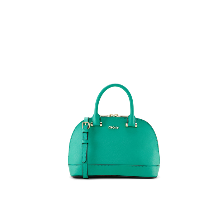 GREEN DKNY SAFFIANO LEATHER MINI TOP HANDLE BAG Outlet Online