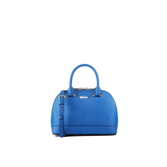 BLUE DKNY SAFFIANO LEATHER MINI TOP HANDLE BAG Outlet Online