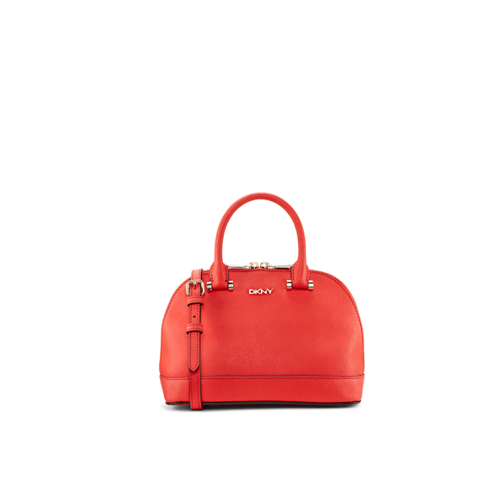 CORAL DKNY SAFFIANO LEATHER MINI TOP HANDLE BAG Outlet Online