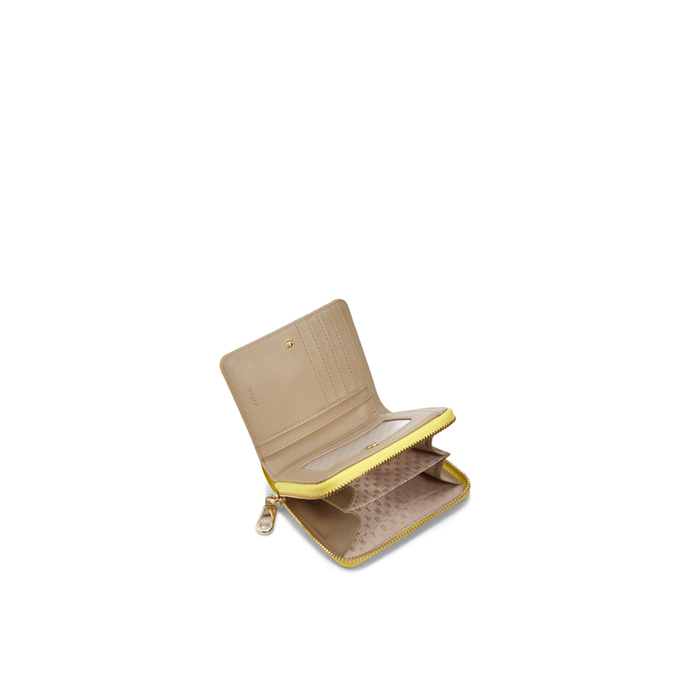 YELLOW DKNY SAFFIANO LEATHER SMALL CARRYALL WALLET Outlet Online