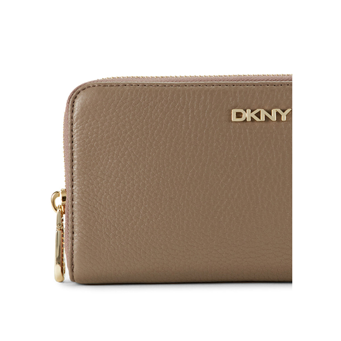 DESERT DKNY TUMBLED LEATHER ZIP AROUND WALLET Outlet Online