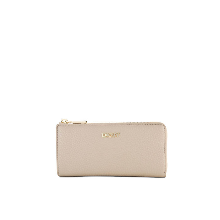 CEMENT DKNY TUMBLED LEATHER HALF ZIP WALLET Outlet Online