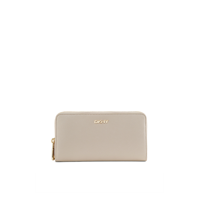 SAND DKNY SAFFIANO LEATHER LARGE WALLET Outlet Online
