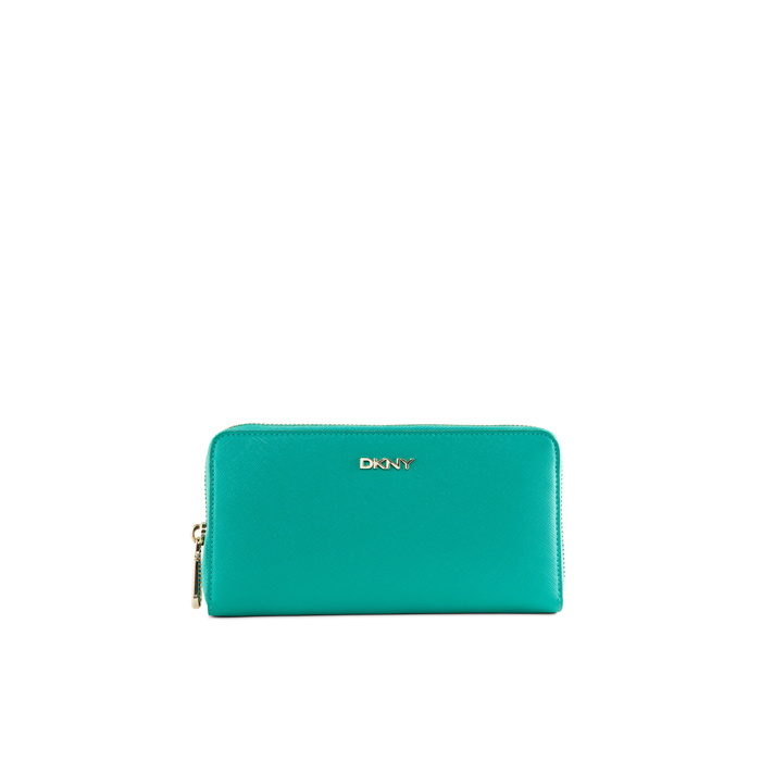 GREEN DKNY SAFFIANO LEATHER LARGE WALLET Outlet Online