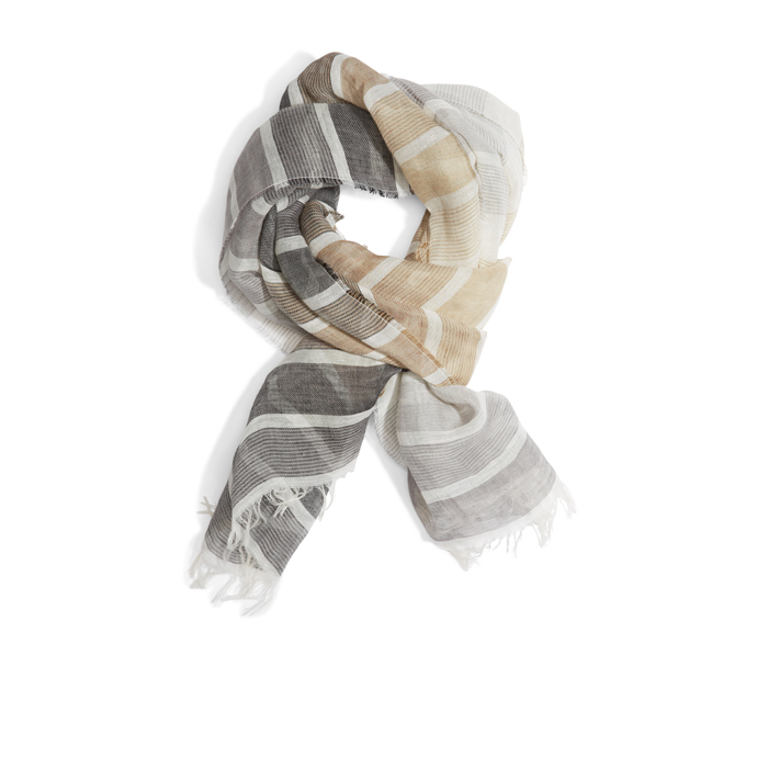 GRIFFIN DKNY STRIPED LINEN SCARF Outlet Online