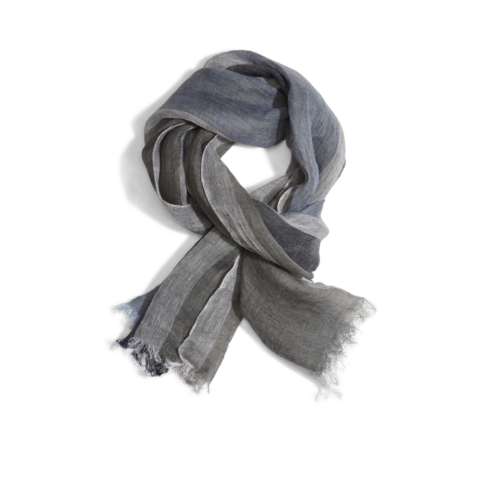 BLUE DKNY COLORBLOCK LINEN SCARF Outlet Online