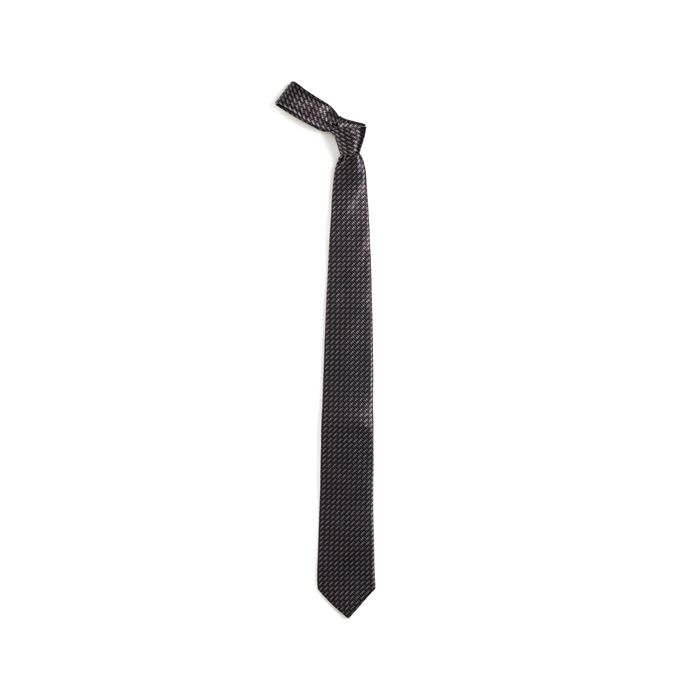 CHOCOLATE BROWN DKNY GEOMETRIC TIE Outlet Online