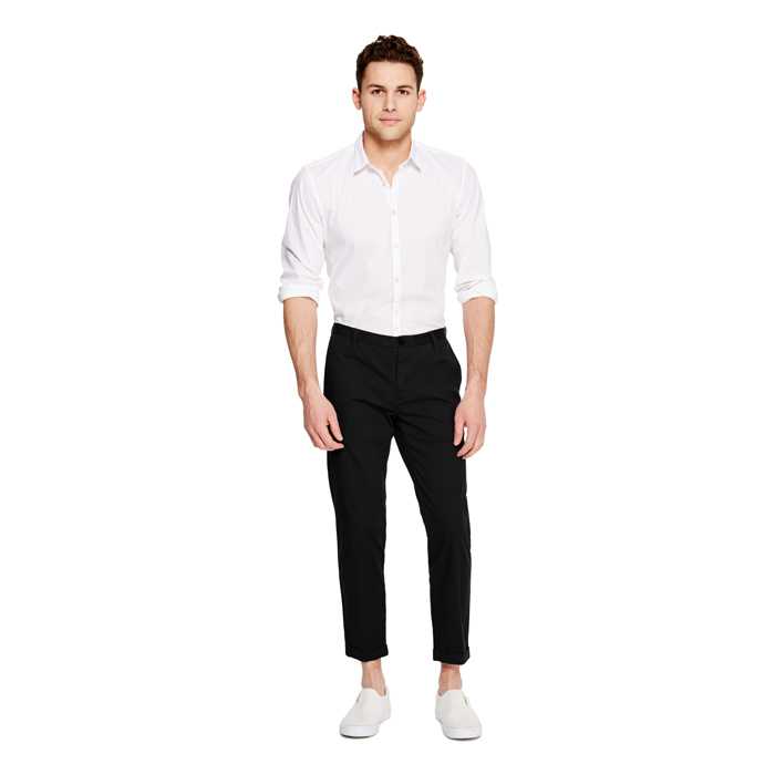 BLACK DKNY CROPPED CUFFED TROUSER Outlet Online