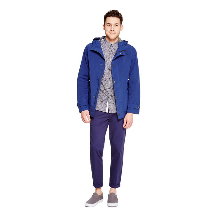 RICH BLUE DKNY HOODED LONG PARKA Outlet Online
