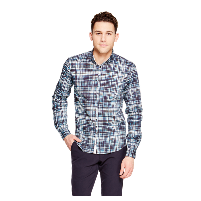 PAGODA BLUE DKNY CHECK PATTERN SHIRT Outlet Online