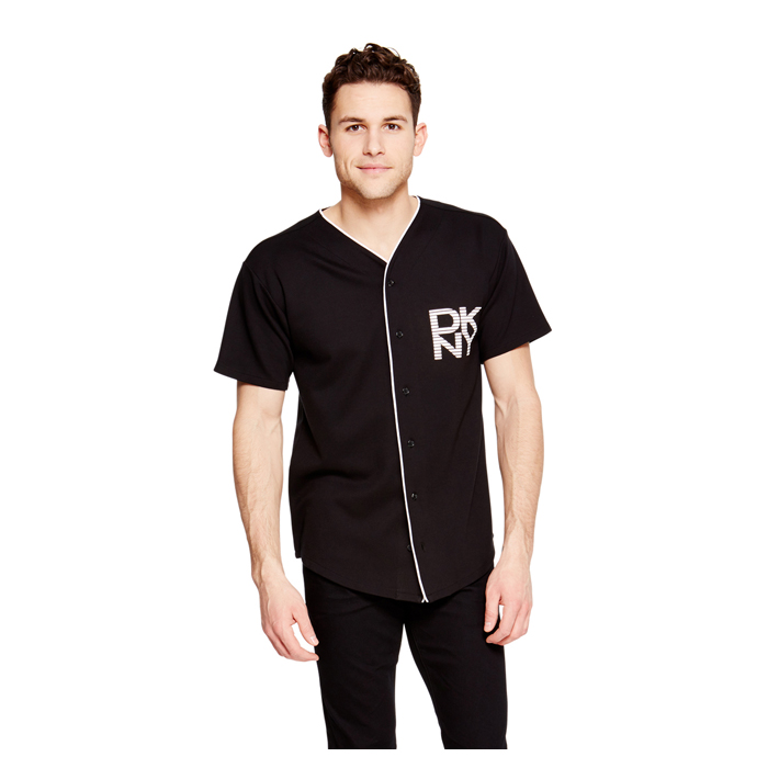 BLACK DKNY BASEBALL SHIRT Outlet Online