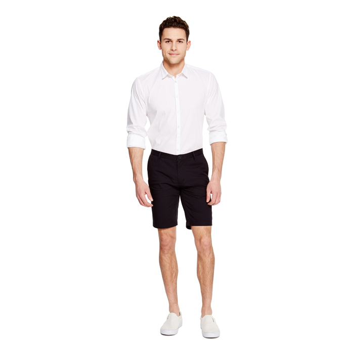 DARK NAVY DKNY FLAT FRONT SHORTS Outlet Online