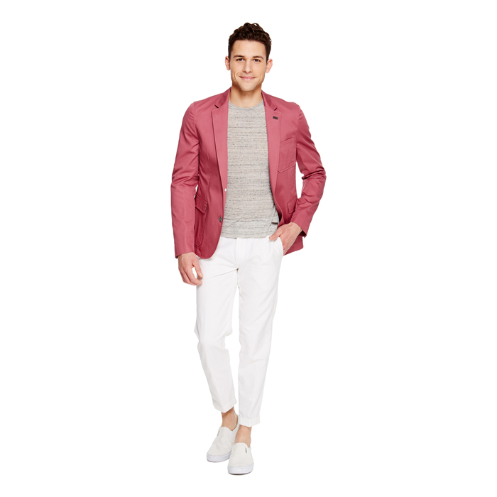 HAWTHORN DKNY COTTON NOTCH LAPEL BLAZER Outlet Online