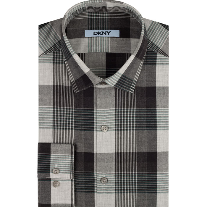 SHADOW DKNY PLAID DRESS SHIRT Outlet Online
