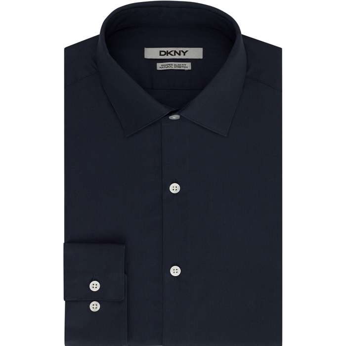 DEEP BLUE DKNY SOLID DOBBY DRESS SHIRT Outlet Online