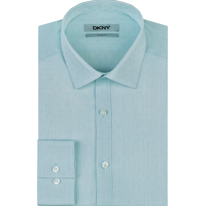 AQUAMARINE DKNY HOWARD SPREAD CLASSIC DRESS SHIRT Outlet Online