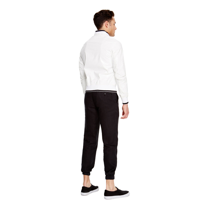 WHITE DKNY COATED COTTON BOMBER JACKET Outlet Online