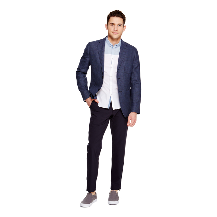 EARTH BLUE DKNY CLASSIC PATCH POCKET JACKET Outlet Online