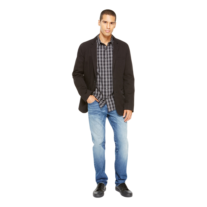 BLACK DKNY JEANS WASHED CANVAS BLAZER Outlet Online