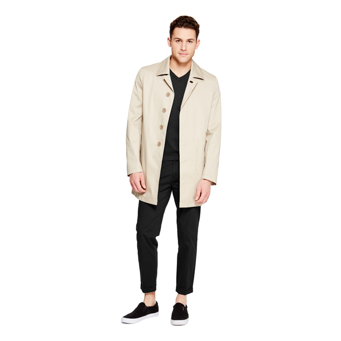 WASHED STONE DKNY CLASSIC COTTON TRENCH Outlet Online