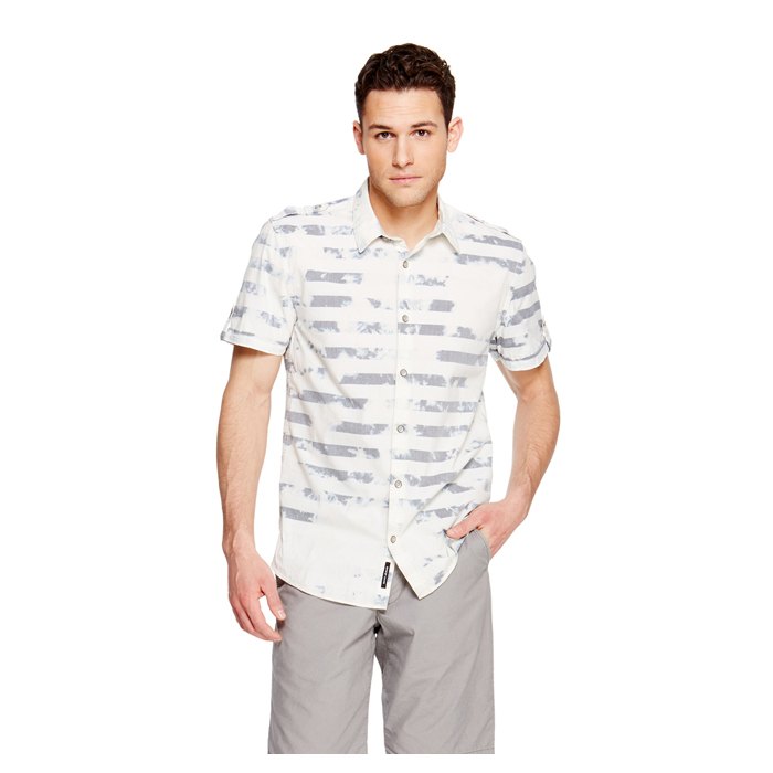 BLUE DKNY JEANS TIE DYE STRIPE SHIRT Outlet Online