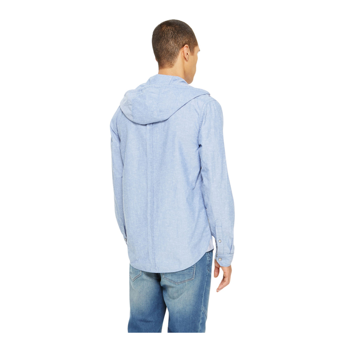 BLUE DKNY JEANS HOODED SHIRT Outlet Online
