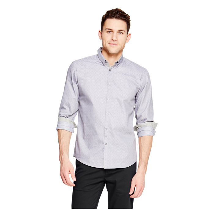 CEMENT DKNY DOUBLE BAR PATTERN SHIRT Outlet Online