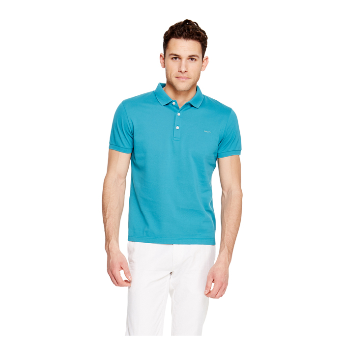 PAGODA BLUE DKNY CLASSIC COTTON POLO Outlet Online