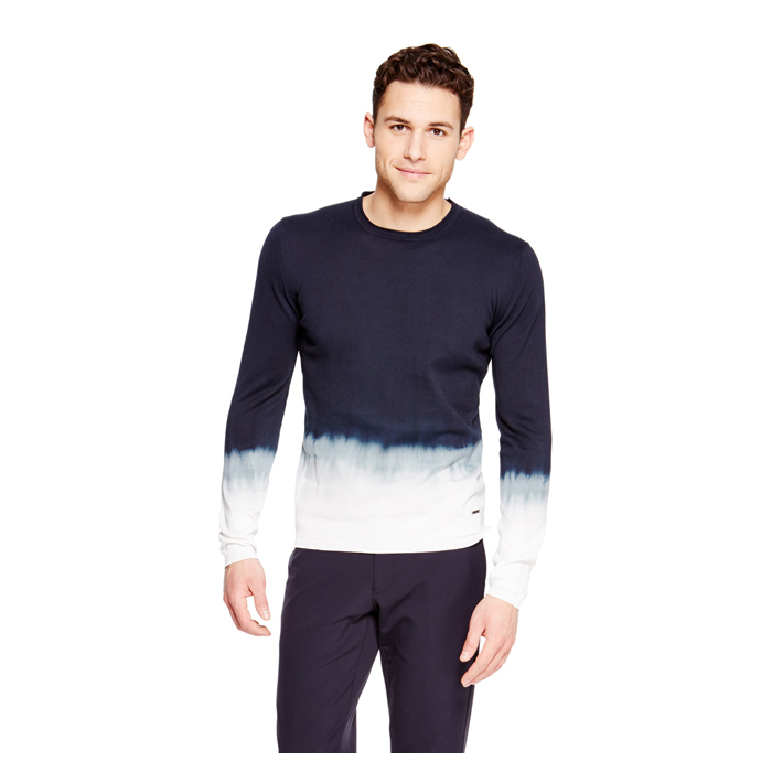 DARK NAVY DKNY TIE DYE COTTON SWEATER Outlet Online