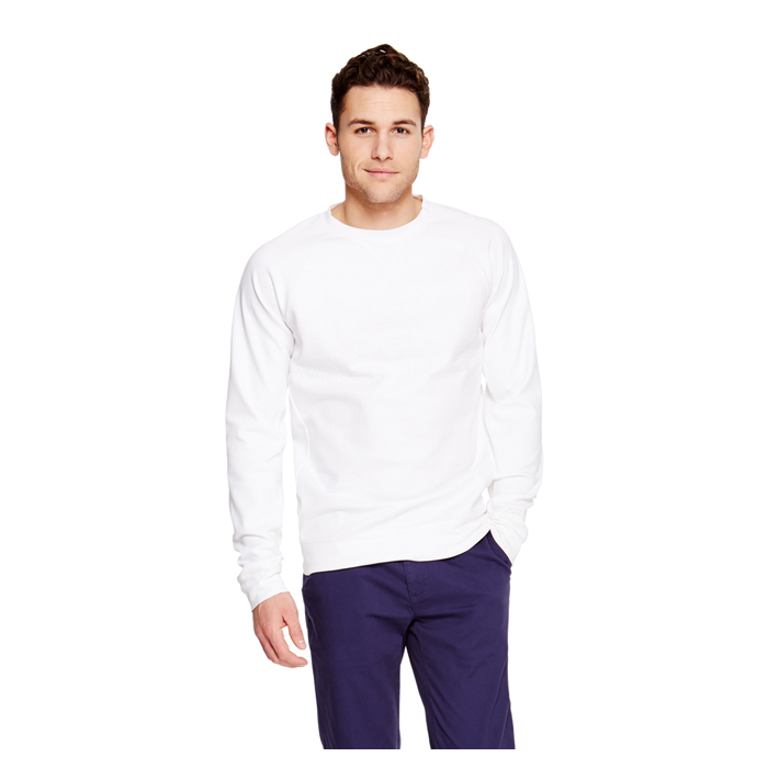 WHITE DKNY EMBOSSED LOGO SWEATSHIRT Outlet Online
