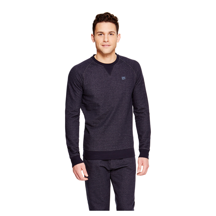 DARK NAVY DKNY RAGLAN SLEEVE SWEATSHIRT Outlet Online