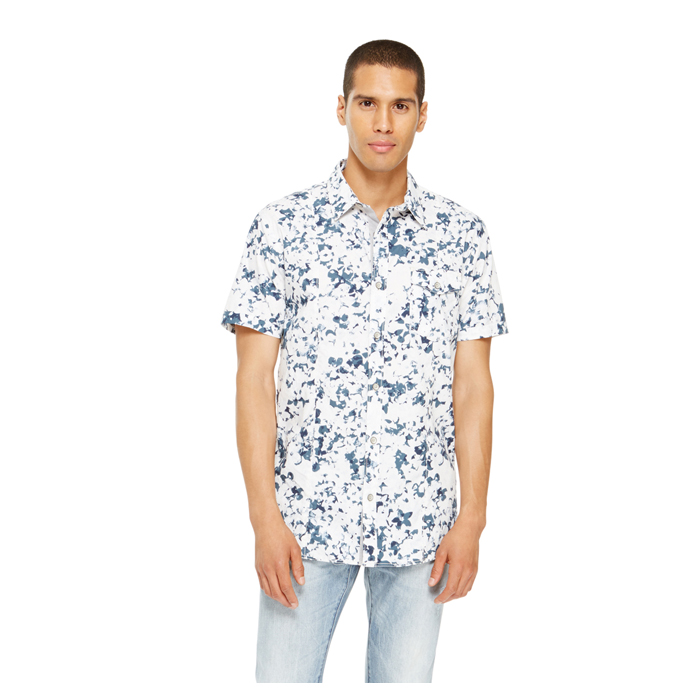 BLUE DKNY JEANS PRINTED SHIRT Outlet Online