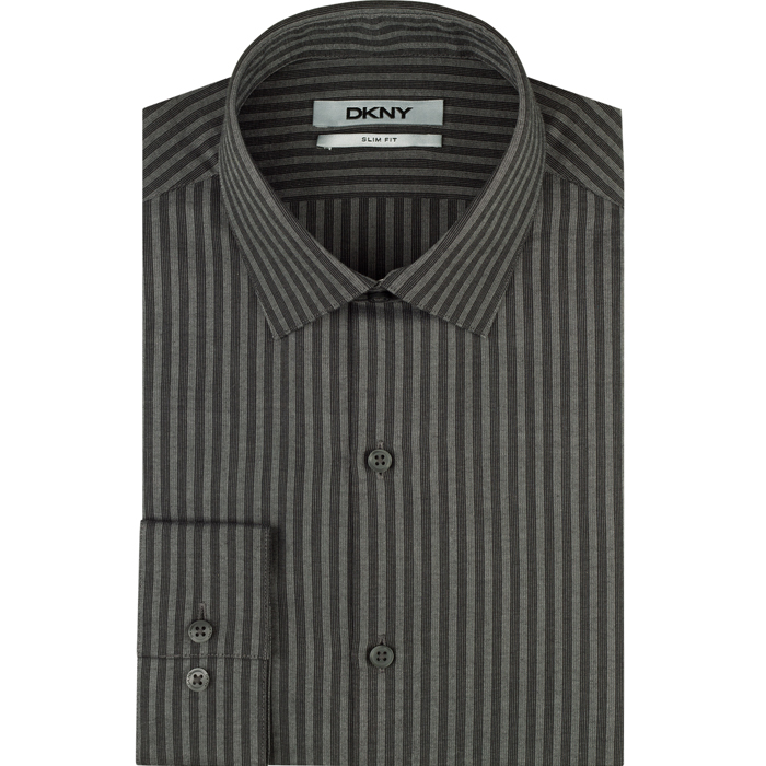 GRAVEL DKNY DOBBY STRIPE DRESS SHIRT Outlet Online