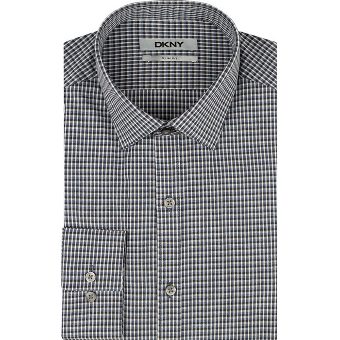 BLUEBERRY DKNY CHECK DRESS SHIRT Outlet Online