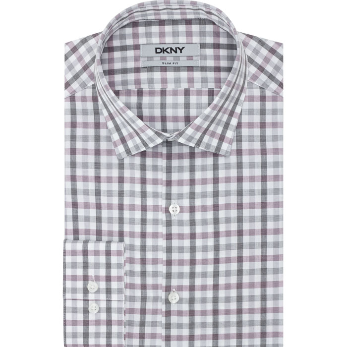 BOISENBERRY DKNY CHECK GRID DRESS SHIRT Outlet Online