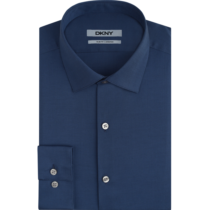 WASHED BLUE DKNY NAILHEAD DRESS SHIRT Outlet Online