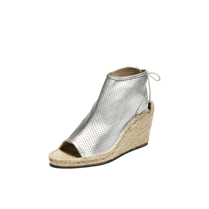 SILVER DKNY DIANE LACE UP BOOTIE Outlet Online