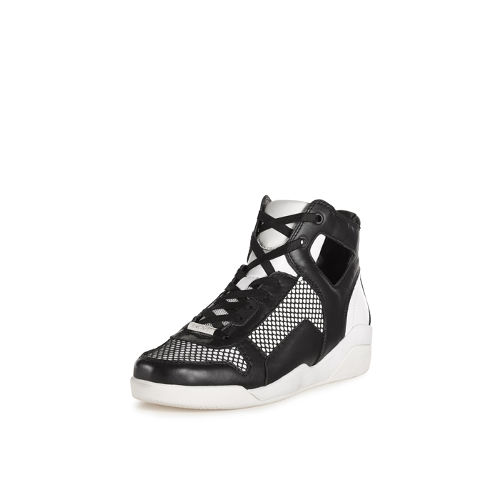 WHITE-BLACK DKNY CARLA HIGH TOP SNEAKER Outlet Online