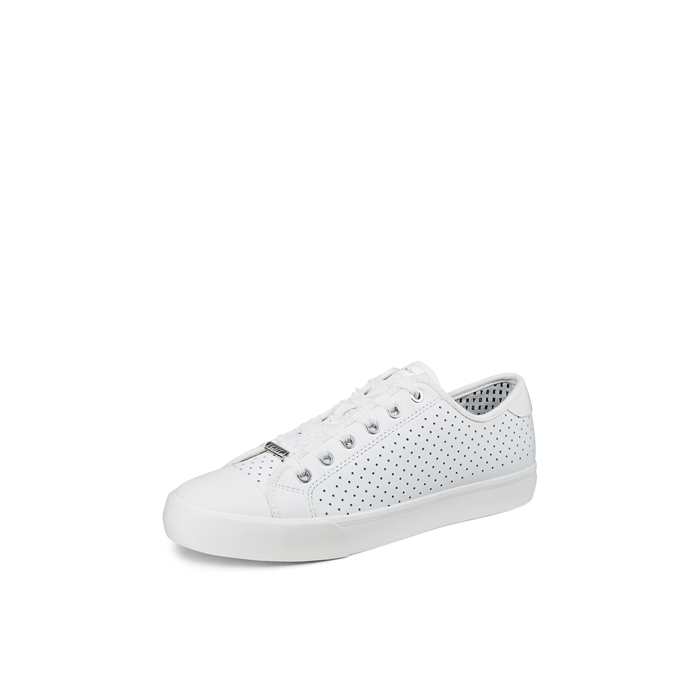 WHITE DKNY BARBARA PERFORATED LEATHER SNEAKER Outlet Online