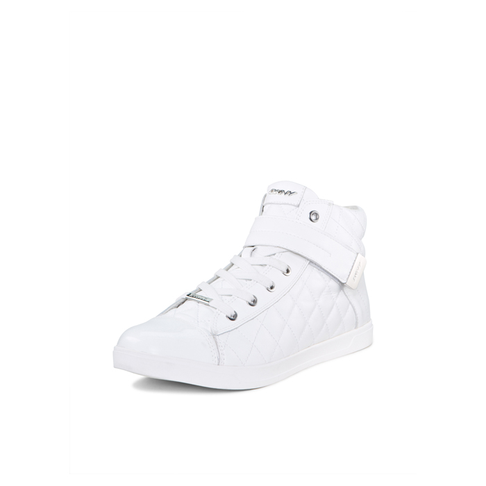 WHITE DKNY BETTY PATENT SNEAKER Outlet Online