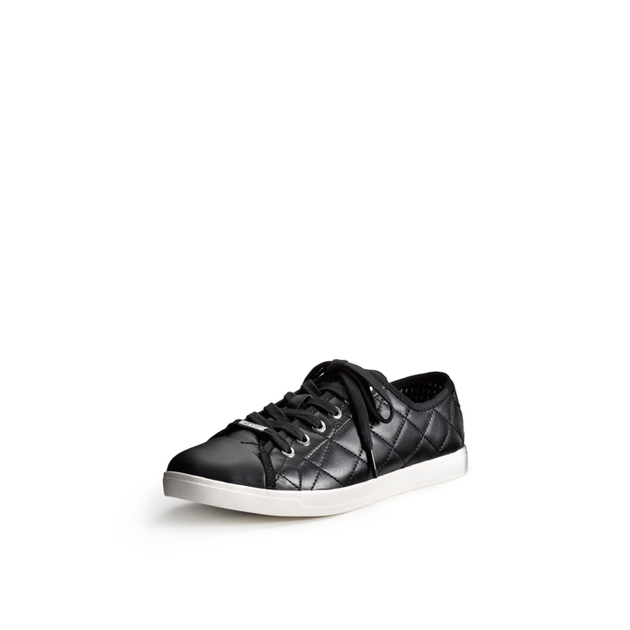 BLACK DKNY BLAIR QUILTED NAPPA SNEAKER Outlet Online
