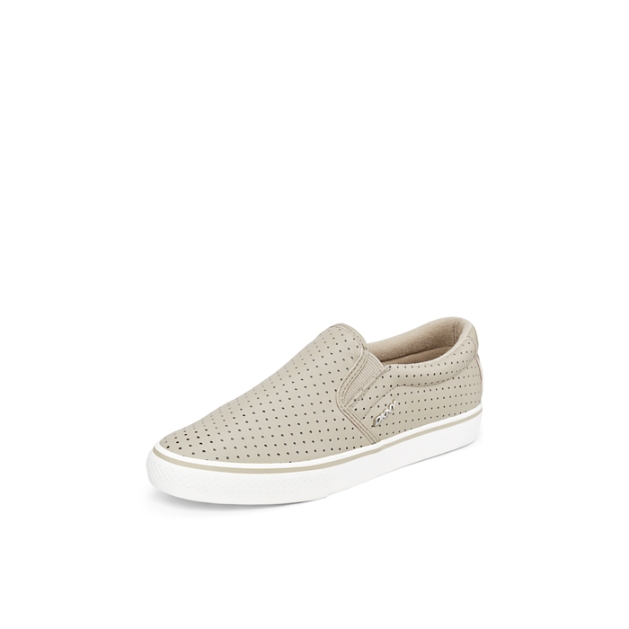 LIGHT SURPLU DKNY BETH PERFORATED LEATHER SNEAKER Outlet Online