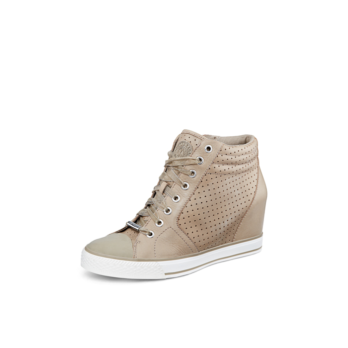 LIGHT SURPLU DKNY CINDY PERFORATED LEATHER SNEAKER Outlet Online