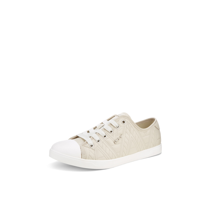 SAND DKNY BLAIR QUILTED LEATHER SNEAKER Outlet Online