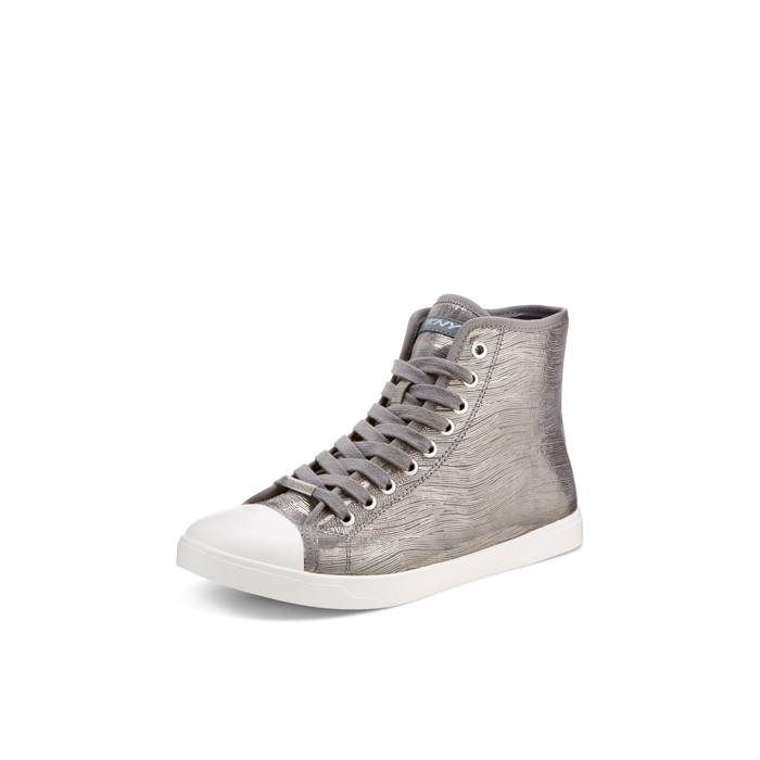 CHAR-CLD GRY DKNY BRAVE LEATHER SNEAKER Outlet Online