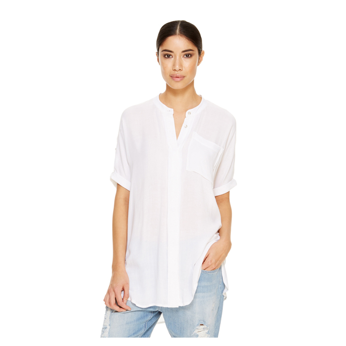 WHITE DKNY -INTERNATIONAL- JEANS BOXY TUNIC Outlet Online