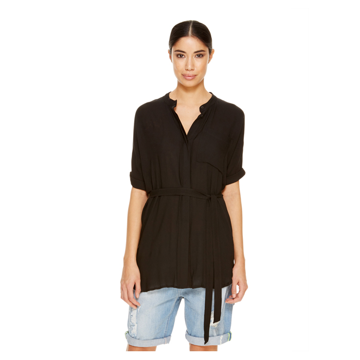 BLACK DKNY -INTERNATIONAL- JEANS BOXY TUNIC Outlet Online