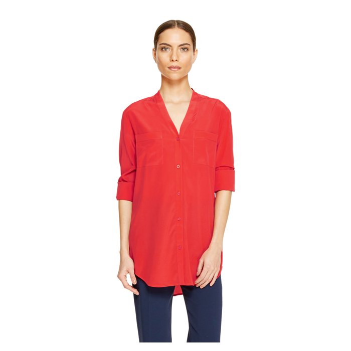 BLAZING DKNY CREPE V-NECK SHIRT Outlet Online